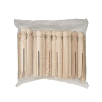 Jasart Wooden Dolly Pegs Natural Colour Pack of 24