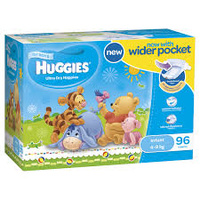 Huggies Ultra Dry Nappies Infant Boy 4 - 8 KG 96's