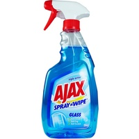 Ajax Spray'n'Wipe Triple Action Glass Spray 500mL