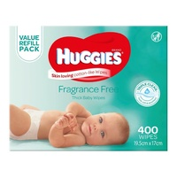 Huggies Wipes Fragrance Free Mega Pack 400's