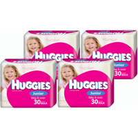 Huggies Ultra Dry Nappies Junior Girl 16+KG 4 x 30's (120)
