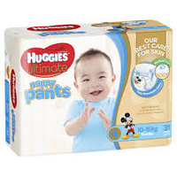 Huggies Ultimate Nappy Pants Size 4 Boy 10-15kg 124's