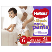 Huggies Ultimate Nappy Pants Unisex 16kg & Over Size 6 42's