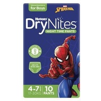 Huggies DryNites Boys Size 4 -7 Years 10's