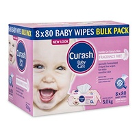Curash Wipes Fragrance Fee 8 x 80's