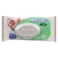 Huggies Wipes Unscented Refill 80's