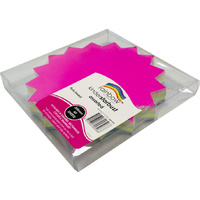 Rainbow Fluro Board Starburst 205mm 60 Sheets