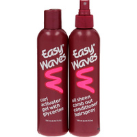 Easy Waves Curl Activator Gel & Comb-Out Conditioner Hairspray Banded Pack 2 x 250mL