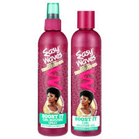 Easy Waves 'Boost It' Curl Moisture Gel and Spray Argan Moroccan Oil Twin Pack