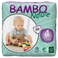 Bambo Nature Nappies Size 4 Maxi 7 - 18KG 30's