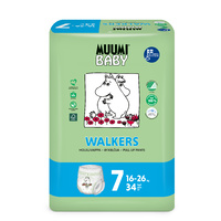Muumi Nappy Pants Size 7 XL 16-26kg Pack of 34