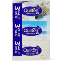 Quilton Classsic White 3Ply 80 Sheets 3 Pack