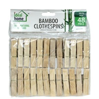 Bamboo Clothes Pegs 48's