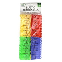 Clothes Pegs Plastic Pack of 36
