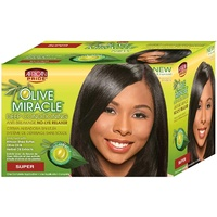African Pride Olive Mirace Deep Conditiong No-Lye Relaxer Super