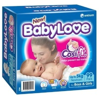 Baby Love Nappies Newborn 0 - 5KG 99's