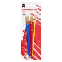 Brush Junior Set of 3 (Blue/Red/Yellow)