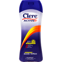Clere Active For Him SPF 15 Body Lotion 400ml