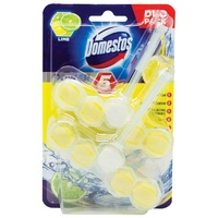 Domestos Toilet Block Lime 2 Pack
