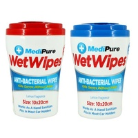 MediPure Anti Bacterial Wipes Lemon 'Cup Holder' 25's