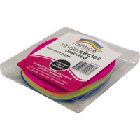 Rainbow Fluro Paper Circles 120mm 100 Sheets