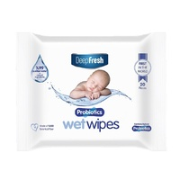 Deep Fresh Biodegradable Water Wipes Enriched With Probiotics Travel Pack of 20