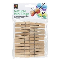 Natural Mini Pegs 30's