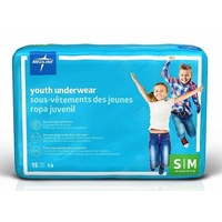 Medline DryTime Youth Underwear Small/Medium (18-32kg) 15's