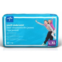 Medline DryTime Youth Underwear Large/X-Large (32+kg) 48's