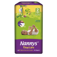 Nannys Mini Plus Size 2 (4 - 6KG) 44's