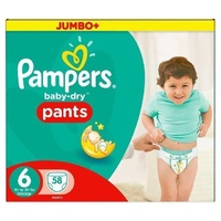 Pampers Baby Dry Pull Up Pants 15+KG 58's Size 6