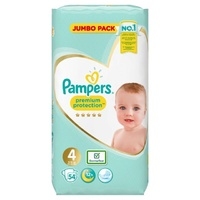 Pampers Premium Protection Nappies Size 4 (9 - 14KG) 54's