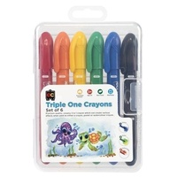 Triple One Crayons Set of 6