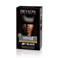 Revlon Realistic Vivid Hair Colour Jet Black 110ml