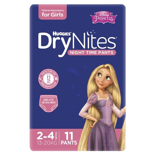 Huggies DryNites Girls Size: 2 - 4 Years 11's