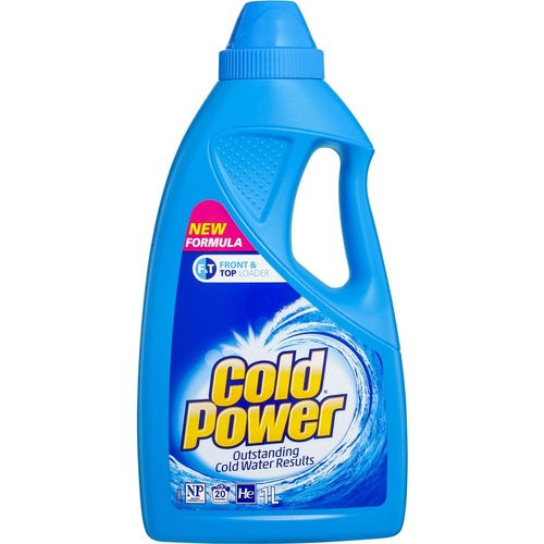 Cold Power Laundry Liquid for Front & Top Loader 1L