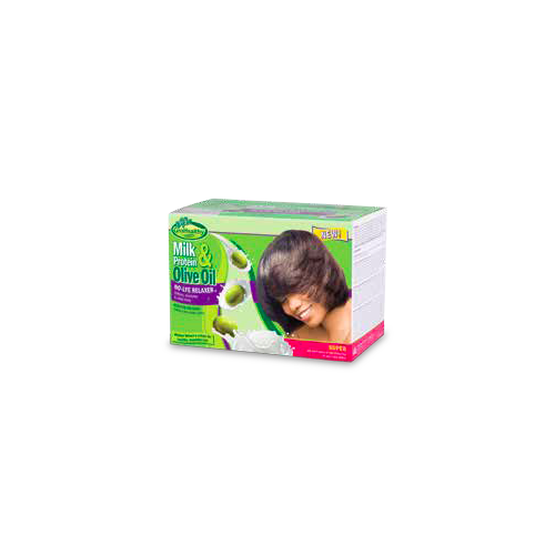 Sofn'Free GroHealthy Milk & Olive No-Lye Relaxer Kit Super