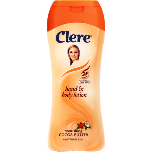 Clere Hand & Body Lotion Nourishing Cocoa Butter 200ml