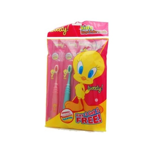 Tweety Kids Toothbrushes 4 Pack