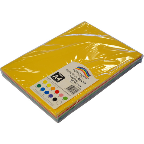 Rainbow Spectrum Board 200GSM A4 100 Sheets